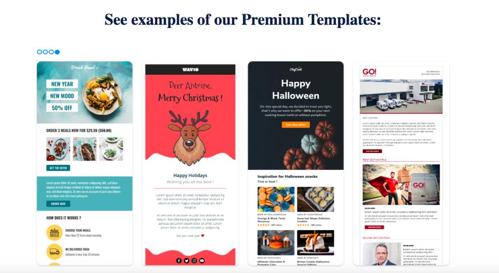 sendinblue premium templates